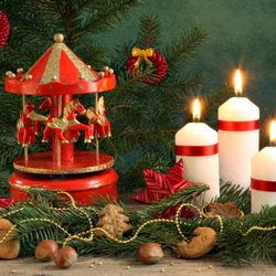 Пазл онлайн: Рождественские свечи