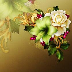 Пазл онлайн: Праздничные цветы