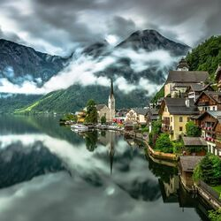 Пазл онлайн: Облака ниже гор