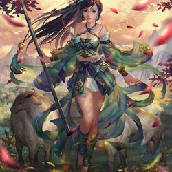 Пазл онлайн: Удивительная воительница