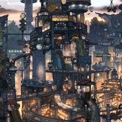 Пазл онлайн: Футуристичный город