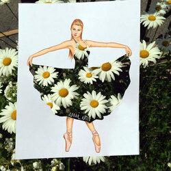Пазл онлайн: Платье из ромашек
