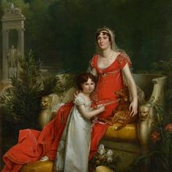 Пазл онлайн: Элиза Бонапарт с дочерью