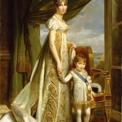 Пазл онлайн: Гортензия, жена Луи Бонапарта, с сыном