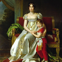 Пазл онлайн: Королева Гортензия с сыном