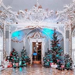 Пазл онлайн: Новогодняя атмосфера в Эрмитаже