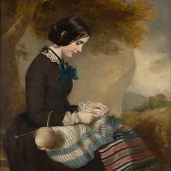 Пазл онлайн: Портрет Мери Изабеллы Грант
