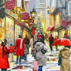 Пазл онлайн: По улицам праздничного города