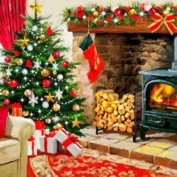 Пазл онлайн: Теплое Рождество