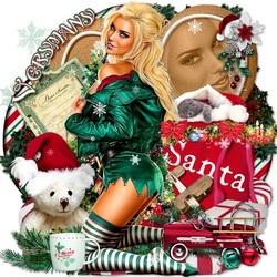 Пазл онлайн: Рождественский эльф Санты