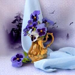 Пазл онлайн: Хрустальный сон цветов