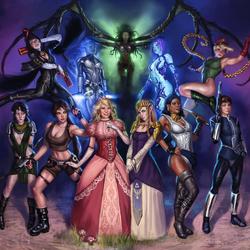 Пазл онлайн: Девушки из видеоигр