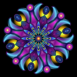 Пазл онлайн: Пурпурный цветок