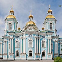 Пазл онлайн: Николо-Богоявленский собор в Санкт-Петербурге
