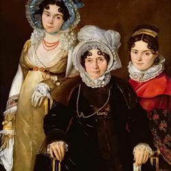Пазл онлайн: Портрет мадам Тангри с дочерьми