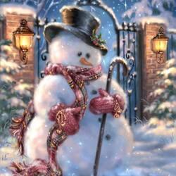 Пазл онлайн: В ожидании Деда Мороза