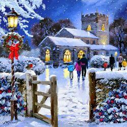Пазл онлайн: В праздничную ночь