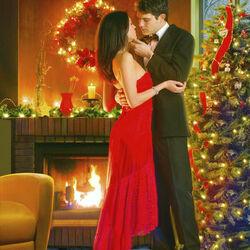 Пазл онлайн: Новогодний поцелуй