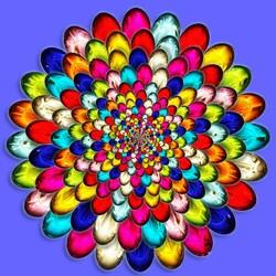 Пазл онлайн: Цветное стекло