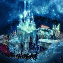 Пазл онлайн: Замок Санты