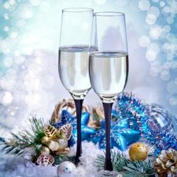 Пазл онлайн: Шампанское