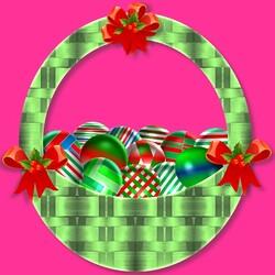 Пазл онлайн: Корзинка с подарками
