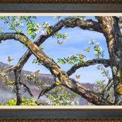 Пазл онлайн: Яблоня в цвету