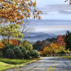 Пазл онлайн: Дорога в горы