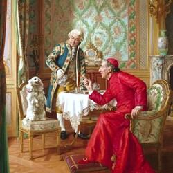 Пазл онлайн: Любимая собачка его высокопреосвященства