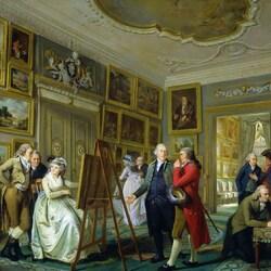 Пазл онлайн: Художественная галерея Jan Jansz Gildemeester в его доме  в Амстердаме