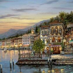 Пазл онлайн: Белладжио - Озеро Комо