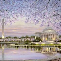 Пазл онлайн: Весеннее цветение - Вашингтон, округ Колумбия