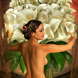 Пазл онлайн: Flores del Amor/Любовь и цветы