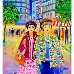 Пазл онлайн: Парижанки
