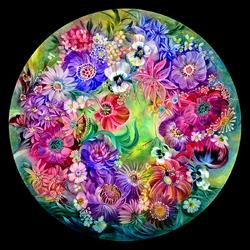 Пазл онлайн: Вальс цветов