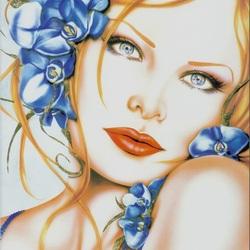 Пазл онлайн: Синяя орхидея