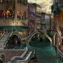Пазл онлайн: Романтика Венеции - Венеция, Италия