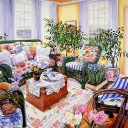 Пазл онлайн: Уютная комната