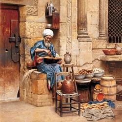 Пазл онлайн: Уличный торговец