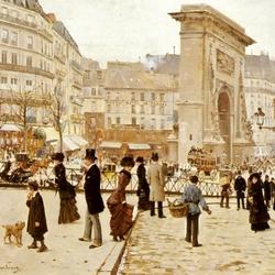 Пазл онлайн: Бульвар Сен-Дени в Париже