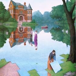 Пазл онлайн: Зеркальное озеро
