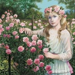 Пазл онлайн: Розовый куст