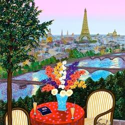 Пазл онлайн: Вид на Эйфелеву башню