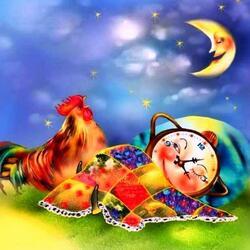 Пазл онлайн: Ленивый будильник