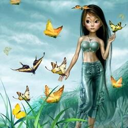 Пазл онлайн: Страна бабочек