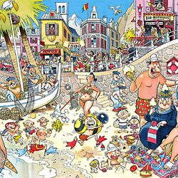 Пазл онлайн: На городском пляже