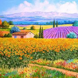 Пазл онлайн: Цветущие поля
