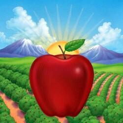 Пазл онлайн: Красное яблоко