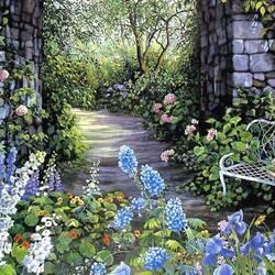 Пазл онлайн: Дорожка в саду
