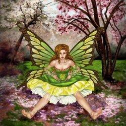 Пазл онлайн: Green Faerie / Зеленая фея
